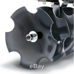 Agri-Fab Disc Sleeve Hitch Cultivator Mower Attachment 8 Blades Adjustable Width
