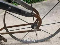 All Iron Antique Cultivator High Wheel Farm/Garden Plow