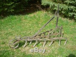 Antique Cultivator Plow Horse Drawn Farm & Garden Yard Ornament