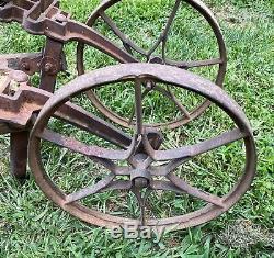 Antique Garden Hoe Planet Jr. Double Wheel Cultivator Star Wheels Circa 1892