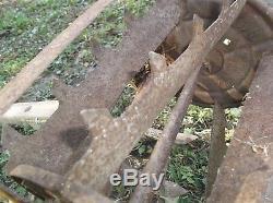 Antique Garden Tiller Rototiller Action Hoe Dirt Cultivator Plow Vintage