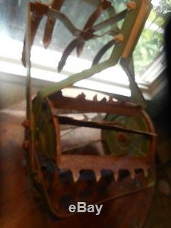 Antique Garden Tiller Rototiller Action Hoe Dirt Cultivator Plow Vintage Weasel