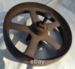 Antique Planet Jr Cultivator Small Single Wheel Cast Iron Hand Plow 8 Wheel
