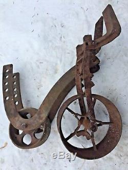 Antique Planet Jr. No. 4 Cast Iron Planter / Cultivator Parts & other Steampunk