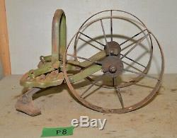 Antique Planet Jr cultivator double 5 tine hoe wheel garden tool collectible P8