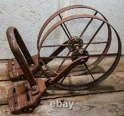 Antique Vintage Planet Jr. Double Wheel Hoe Cultivator Plow-Parts. RARE! COOL