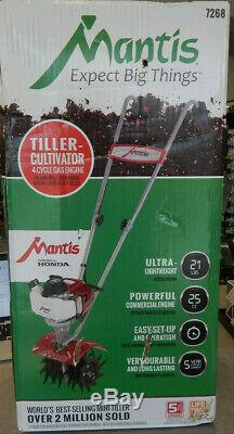 Brand New Mantis 4 Cycle Gas Engine Tiller-cultivator With Honda Engine
