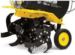 Champion Power Equipment Gas Powered Tiller Cultivator Soil Garden Landscape 22