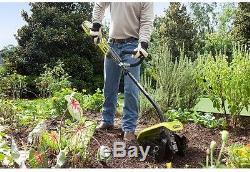 Cordless Garden Cultivator Lithium Ion Battery Soil Dirt Tiller Tines Gardening