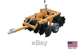DISC CULTIVATOR Harrow 33 Cut Width Tow Behind ATV UTV & Garden Tractor