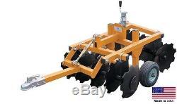 DISC CULTIVATOR Harrow Tow Behind ATV UTV & Garden Tractor 33 Cut Width