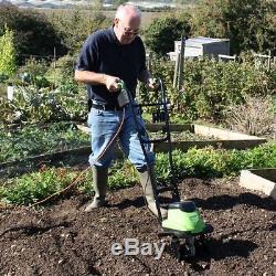 ELECTRIC Motor Tiller Cultivator Soil Seeding Ground Gardening Culvitating Weeds