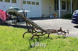 Early Horse Drawn Cultivator 100 yrs great restoration DISPLAY ITEM $SALE 8/15