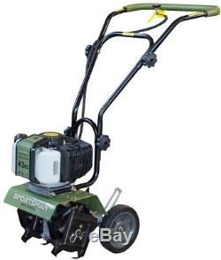 Earth Series 10 in Mini Cultivator Gas Powered Loose Soil Flower Beds Gardens