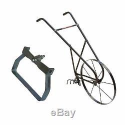 Earthway 24 Inch Steel High Wheel Garden Cultivator + Quick Weed Slicing Hoe
