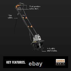Electric 1050W Tiller Garden Soil Cultivator/Rotavator 32cm Cutting