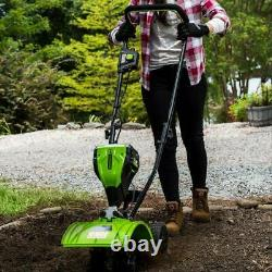 Electric Cordless Garden Cultivator Outdoor Power Rototiller Equipment Tool Only