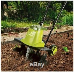 Electric Garden Tiller Cultivator 16-Inch 13.5 Amp 6 Durable Steel Angled Tines