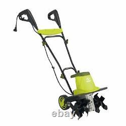 Electric Garden Tiller/Cultivator 3-position wheel adjustment 6 durable steel