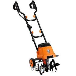 Electric Garden Tiller Cultivator Double Handled Powerful 850W Motor Lawn Small