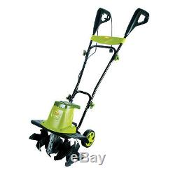 Electric Garden Tiller Cultivator Durable Steel Angled Tines Folding Handle
