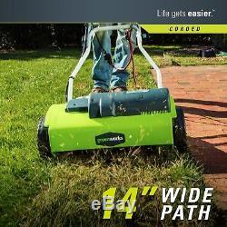 Electric Soil Garden Cultivator Tiller Rototiller Corded Small Yard Lawn Amp