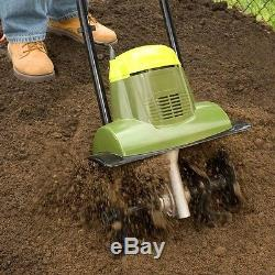 Electric Tiller Cultivator Corded Garden Lawn Soil Tines Dirt Planting Compact