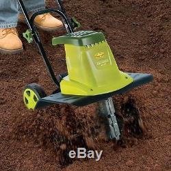 Electric Tiller Cultivator Corded Gardening Tool Yard Dirt Soil Turner Aerator