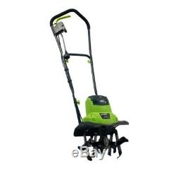 Electric Tiller Cultivator Corded Powerful Durable Steel Lightweight 6.5 Amp