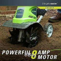 Electric Tiller Cultivator Garden Rototiller Corded Hand Yard Lawn Digger