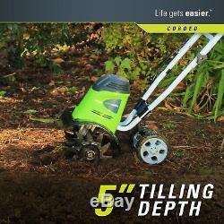 Electric Tiller Cultivator Garden Rototiller Corded Hand Yard Lawn Digger Rotary