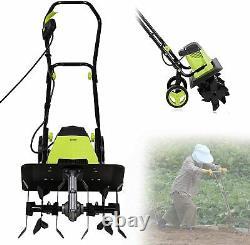 Electric Tiller Cultivator Rotavator, 1500W Powerful Garden Soil Cultivator