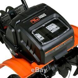 Electric Tiller Cultivator Rototiller Portable 40V 14 Inch Tilling Width 4
