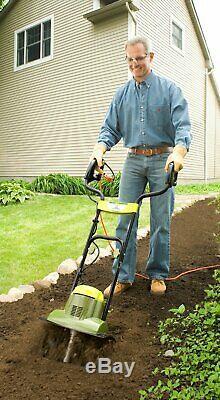 Electric Tiller Cultivator Small Garden Rototiller Lightweight Soil Aerator Deep