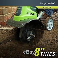 Electric Tiller Rototiller Dirt Cultivator Garden Corded Yard Lawn Digger New