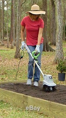 Electric Tiller Small Rototiller Garden Cultivator Yard Weeds Soil Pulverizer
