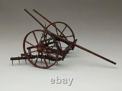 Extraordinary Antique Salesman Sample Of A Horse Drawn Walk-behind Cultivator