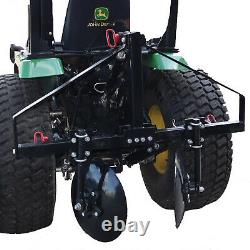 Field Tuff 43 Inch Disc Cultivator Garden Bedder and Hiller For 3 Point Tractor