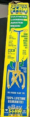 GARDEN WEASEL Gold Garden Claw Cultivator 91306 Hand Tiller Weeder Aerate NIB