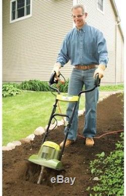 Garden Electric Tiller Cultivator Small Power Machine Dig Soil Lawn Yard Sun Joe