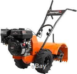 Garden Gas Tiller Cultivator Pull Rear-Tine 196cc Engine 4-Stroke Soil Tilling