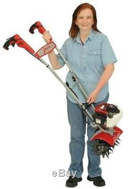 Garden Mini Tiller Cultivator Gas Powered Soil Front Tine 25cc 4-Cycle Engine