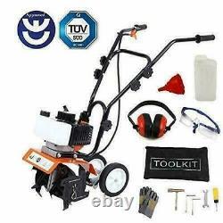Garden Mini Tiller Petrol Power Soil Cultivator Tool 52cc 1.65kw Engine New