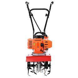 Garden Tiller 3HP Rotovator 52cc Petrol Cultivator 2-Stroke Engine Lawn