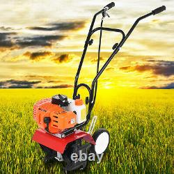 Garden Tiller 3HP Rotovator 52cc Petrol Cultivator 2-Stroke Engine Lawn Soi-l UK