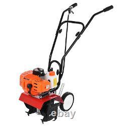 Garden Tiller 3HP Rotovator 52cc Petrol Cultivator 2-Stroke Engine Lawn US Stock