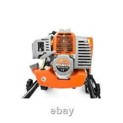 Garden Tiller 5.2hp Rotavator 52cc Petrol Cultivator 2-stroke Engine Lawn Soil