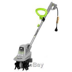 Garden Tiller Cultivator Electric Corded Lawn Soil Tilling Tiller Tool Machine