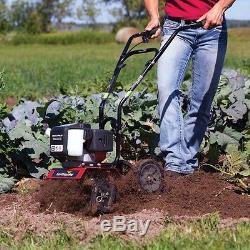 Gas Cultivator, Earthquake 43cc 2-Cycle, Garden Tiller, Aerating Soil, Weeding