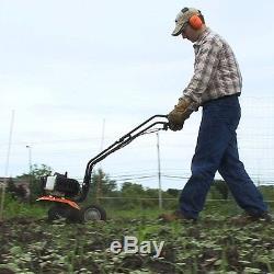 Gas Garden Cultivator Soil Sod Dirt Tiller Tines Aerator Weeder Heavy Duty Tool